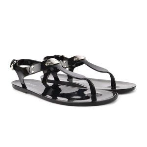 Michael Kors Jelly Sandals Buckle Strap Black 10